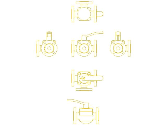Смесительный клапан поворотный без привода Danfoss HFE 3 ду 20 065Z0428