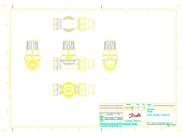 Однотрубный радиаторный клапан Danfoss RTR-G ду 15 013G7024 013G1675