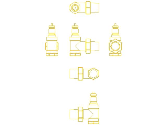 Двутрубный радиаторный клапан Danfoss RA-N ду 15 013G4202