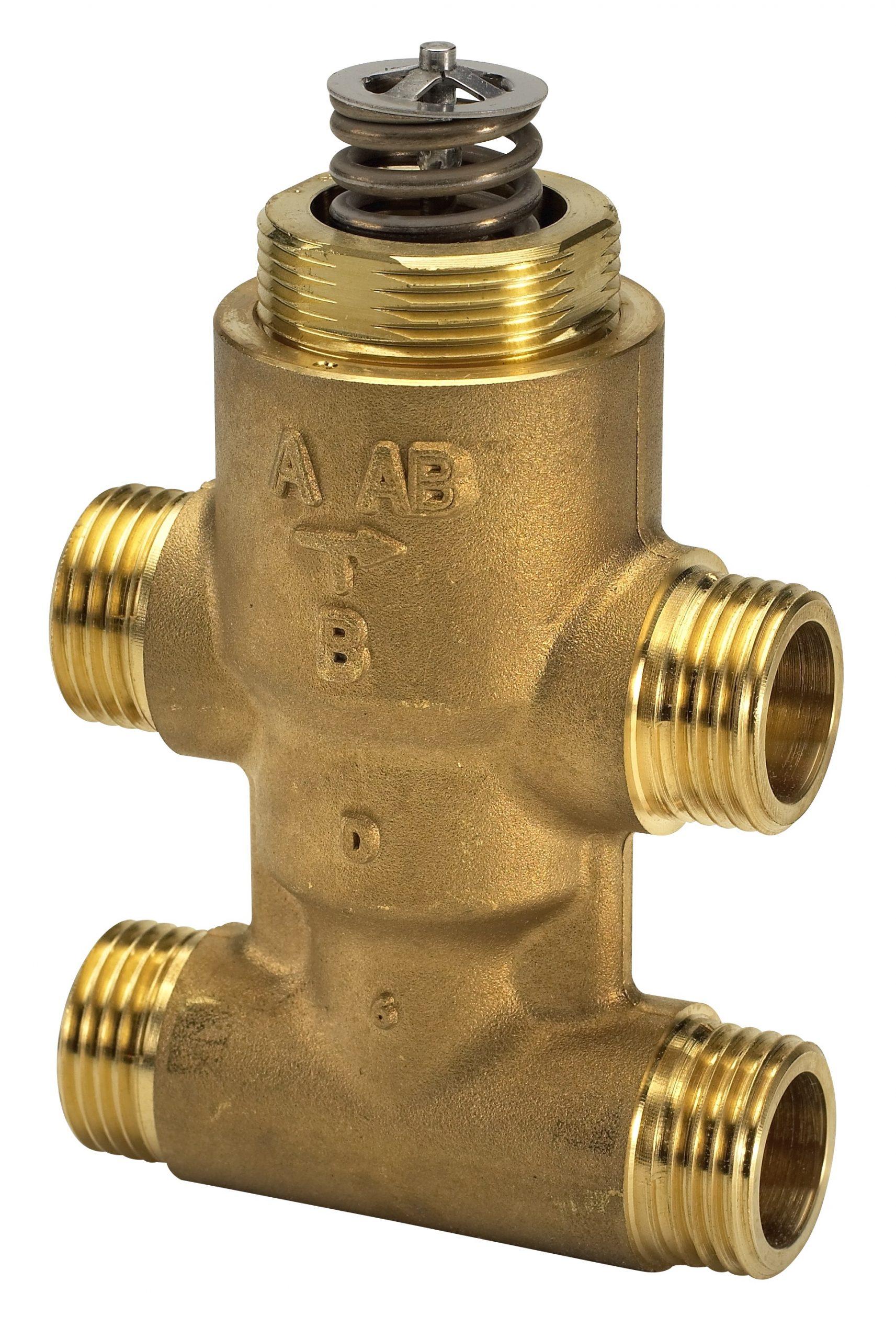 Клапан регулирующий седельный четырехходовой Danfoss VZ 4 c наружной резьбой ду 20 3/4″ 065Z5520