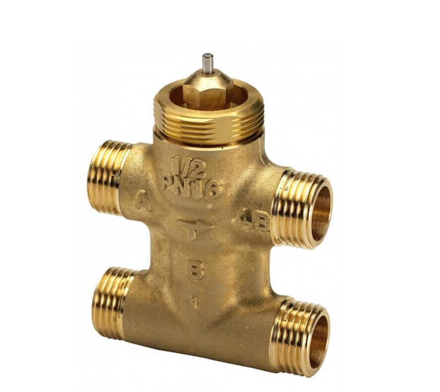 Клапан регулирующий седельный четырехходовой Danfoss VZL 4 c наружной резьбой ду 20 3/4″ 065Z2096