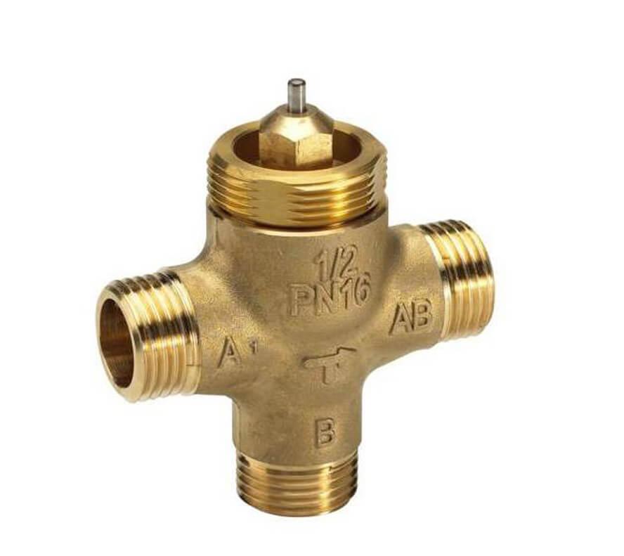 Клапан регулирующий седельный трехходовой Danfoss VZL 3 c наружной резьбой ду 15 1/2″ 065Z2082