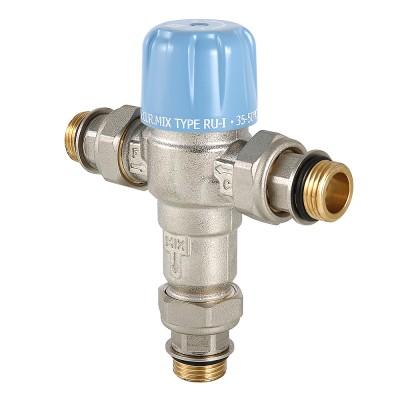 Клапан смесительный THERMOMIX регулируемый Valtec VT.MT10RU 1/2″ ду 15 ВР трехходовой VT.MT10RU