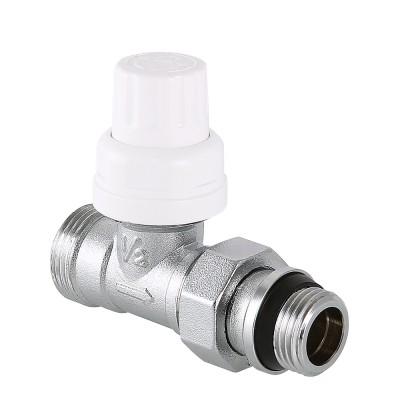 Клапан термостатический прямой Valtec VT.032.NER 1/2 x 3/4″ ду 15 переходный радиаторный с самоуплотняющимся полусгоном VT.032.NER.04