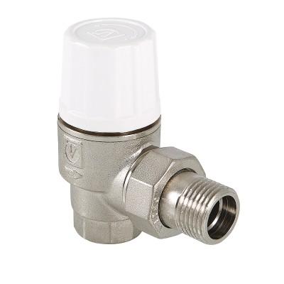 Клапан термостатический угловой Valtec VT.033.N 1/2″ ду 15 ВР/НР радиаторный повышенной пропускной способности VT.033.N.04