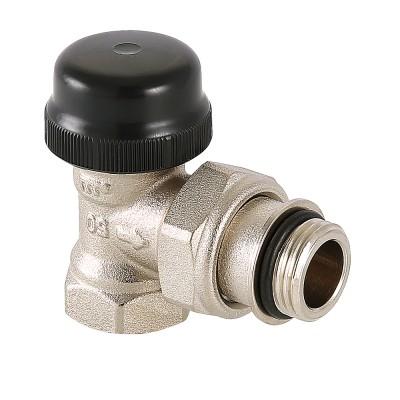 Клапан термостатический угловой Valtec VT.037.N 1/2″ ду 15 ВР с преднастройкой VT.037.N.04